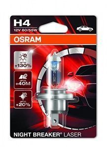 Лампа Osram Night Breaker Laser H4 12V- 60/55W (P43t) (блистер 1шт.)
