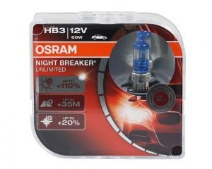 Лампа Osram Night Breaker Unlimited HB3 12V- 60W (P20d) (2шт.) DuoBox