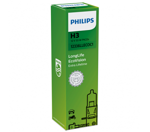 Лампа Philips LongLife EcoVision H3 12V- 55W (PK22s)