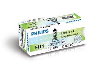 Лампа Philips LongLife EcoVision H11 12V-55W (PGJ19-2)