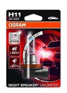 Лампа Osram Night Breaker Unlimited H11 12V-55W (PGJ19-2) (блистер 1шт.)